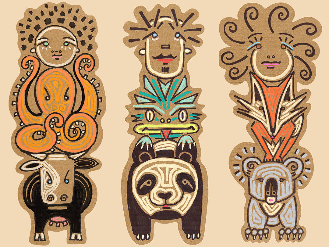 Moillo-NZ-Illustrator-3-Totem-2020-WEB